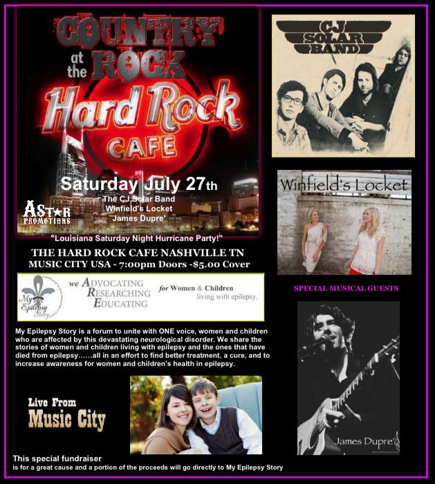 Hard Rock Cafe July Benefit